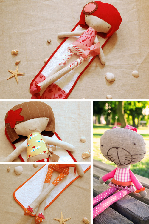 handmade fabric softies by PinkNounou