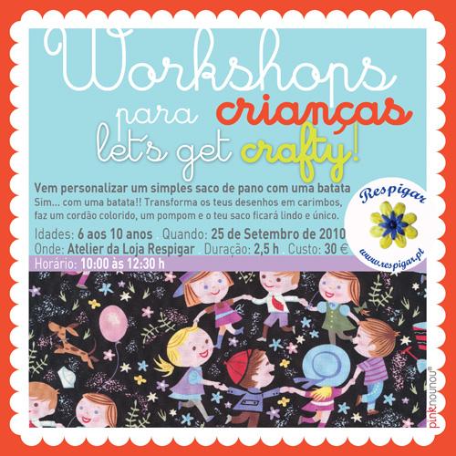 workshop para crianças