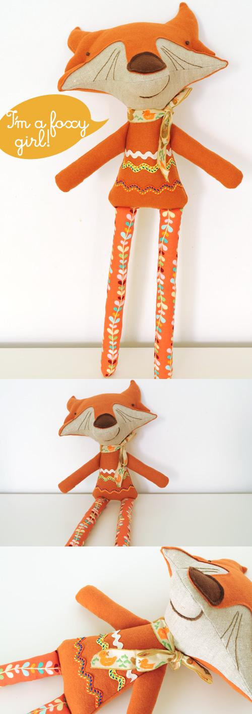 handmade softie fox