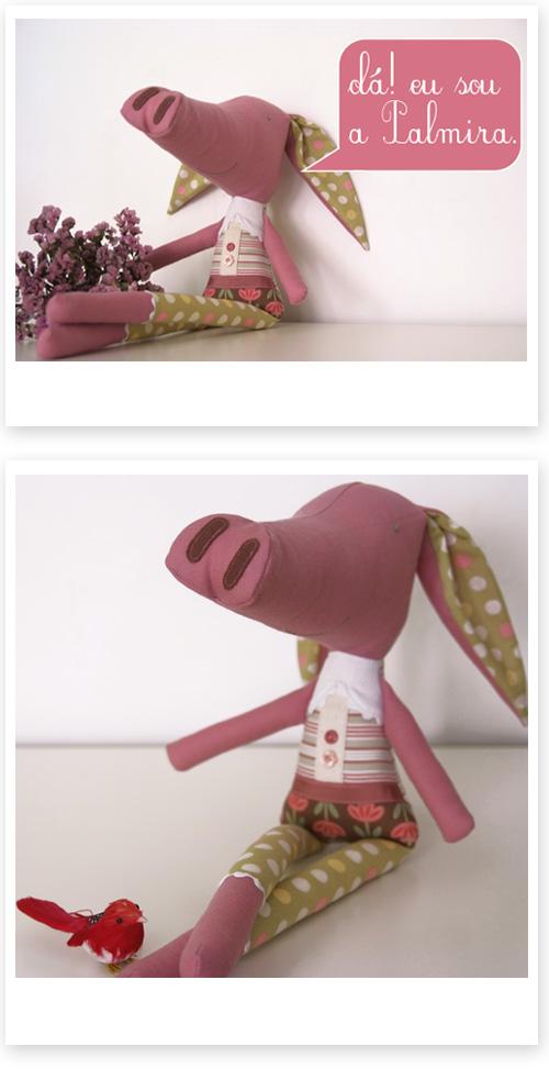 handmade softie pig by PinkNounou