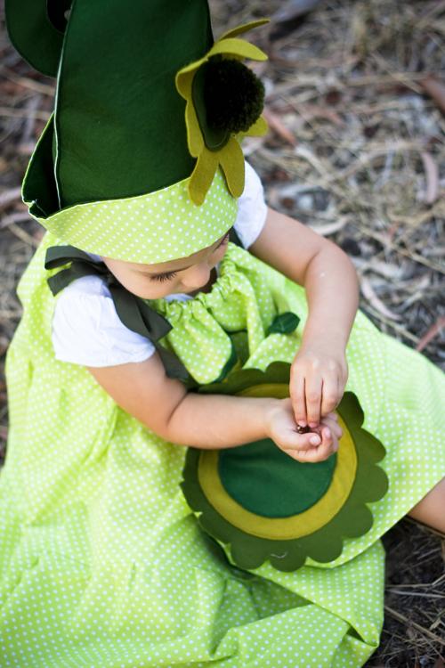 children's handmade elf costume