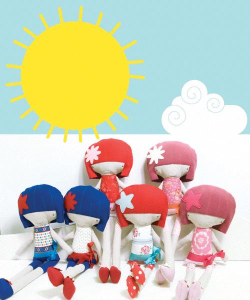 pinkNounou dolls