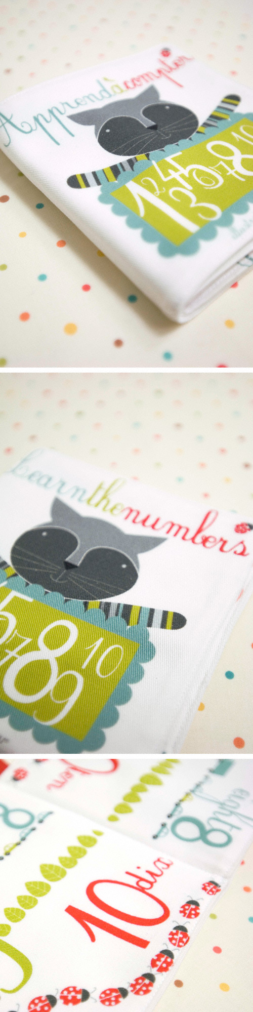 fabric book in french and english by PinkNounou