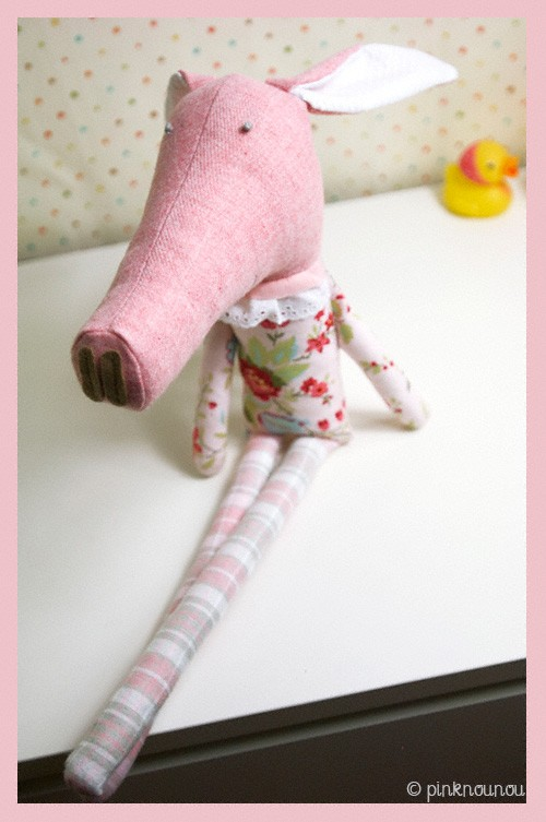 little pig soft toy by PinkNounou