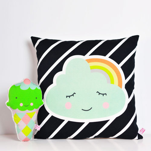 cloud-and-rainbow-cushion-with-icecream-rattle-by-PinkNounou