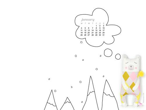 2016-January-desktop-wallpaper-calendar-by-PinkNounou-1