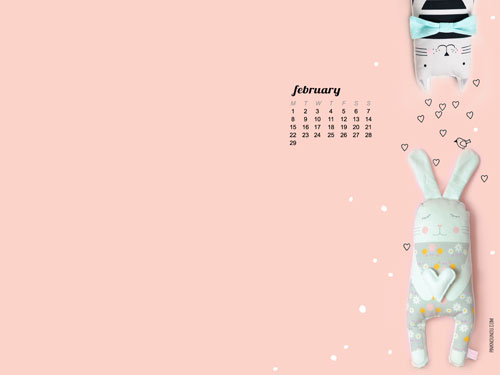 2016-Februaryary-desktop-wallpaper-calendar-by-PinkNounou-1