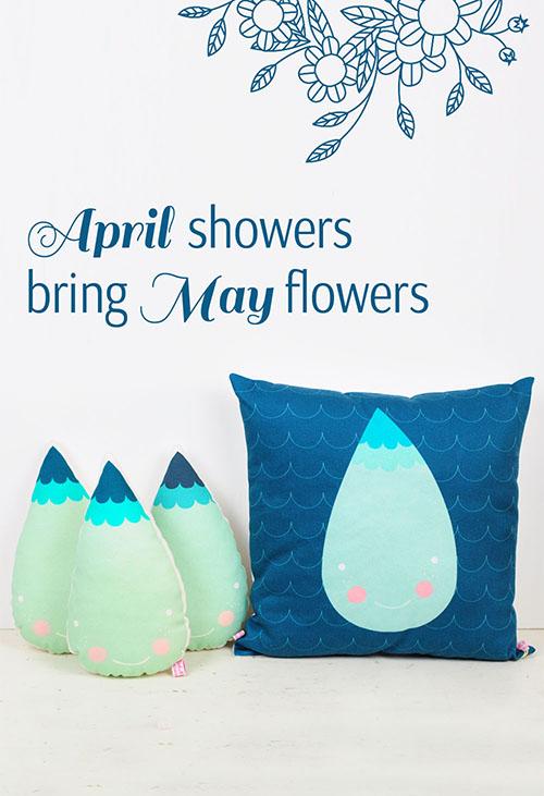 raindrops pillows by PinkNounou -1