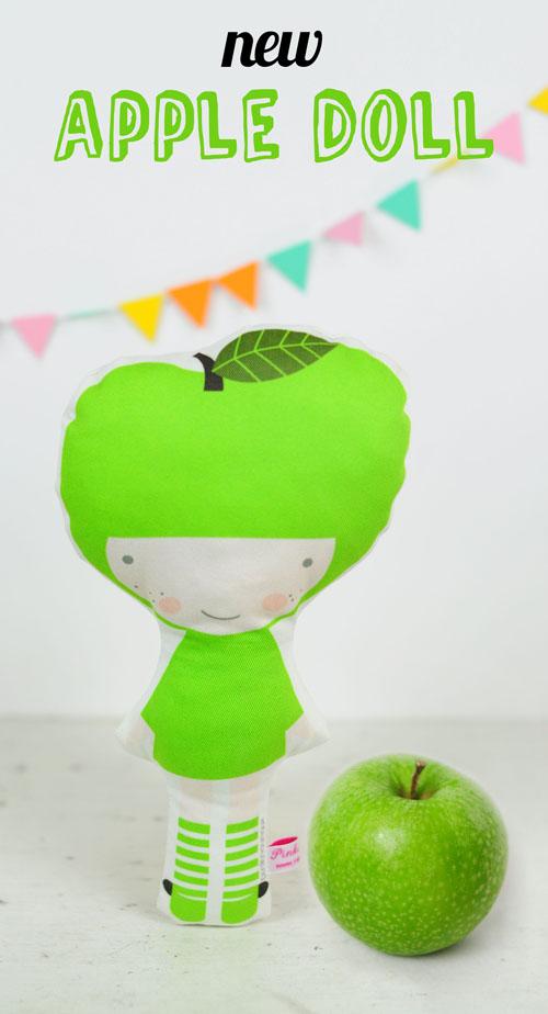 Apple fruit doll by PinkNounou - 1