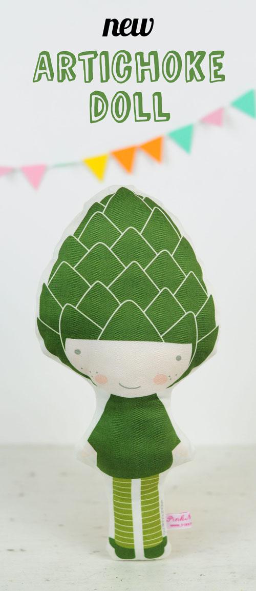 Artichoke fruit doll by PinkNounou - 1
