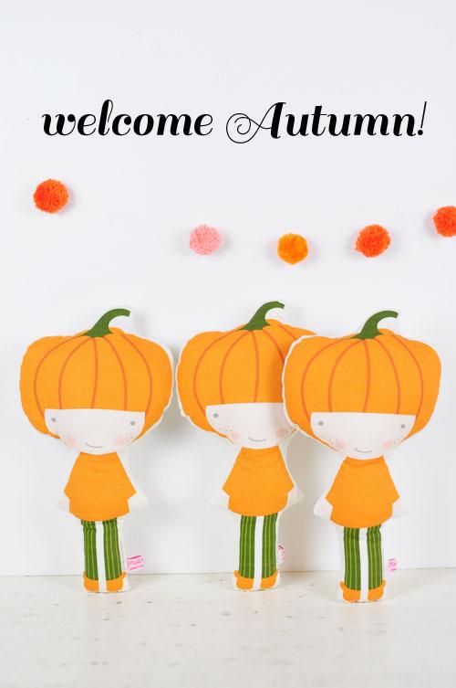 veggie Pumpkin dolls by PinkNounou -4