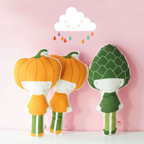 veggie Pumpkin dolls by PinkNounou -6