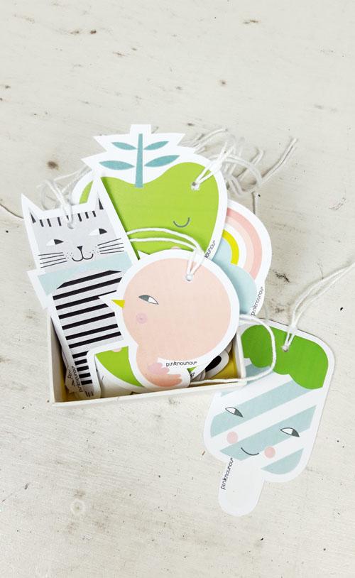 paper tags by PinkNounou -A