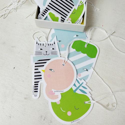 paper tags by PinkNounou -B