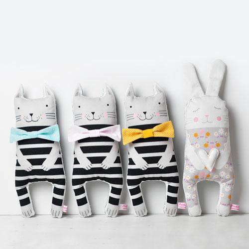 animal soft toys by PinkNounou 1