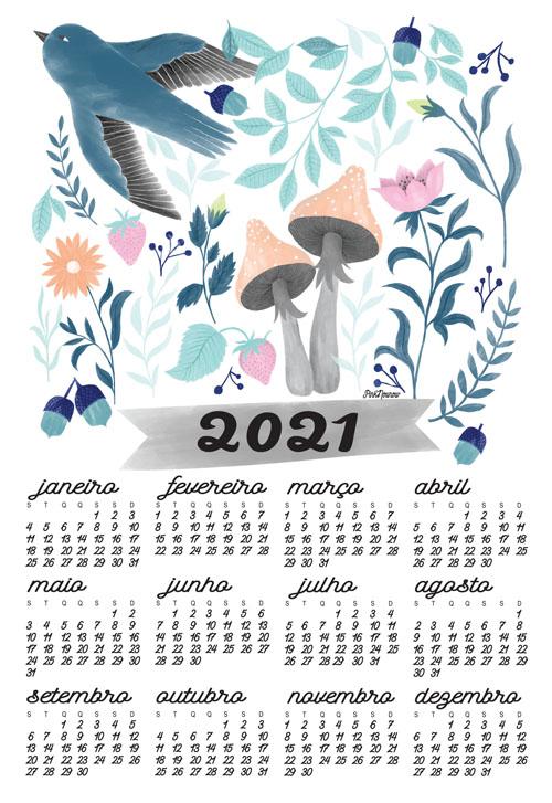 illustration calendar by PinkNounou 19A