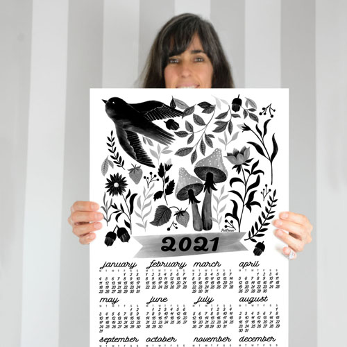 illustration calendar by PinkNounou 19C